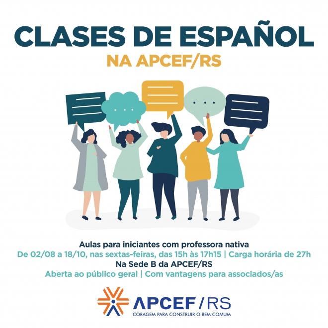 Aulas de espanhol da APCEF/RS