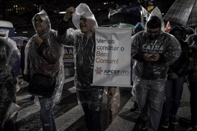 Bloco d@s Bancári@s no protesto de junho