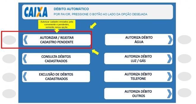 Novo sistema de débito